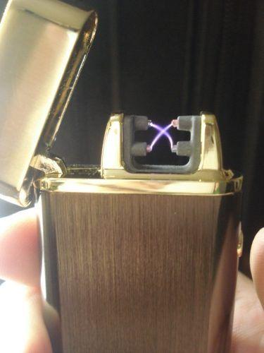 Isqueiro Luxo Arc Plasma Carregamento Usb Coleção Marrom  - Presente Presente