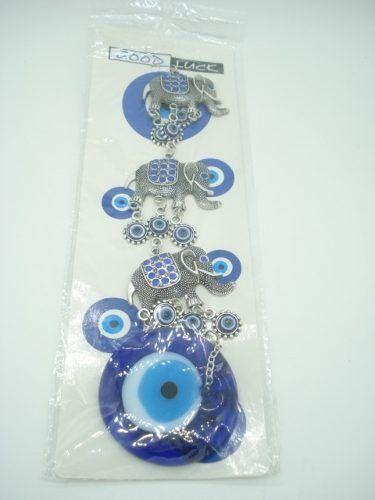 Enfeite Mobile Borboletas Olho Grego Miçangas  - Presente Presente