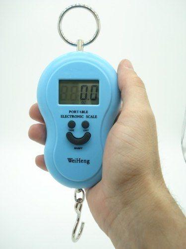 Balança Eletrônica Digital 50kg Lcd 1,5 Polegadas Azul  - Presente Presente