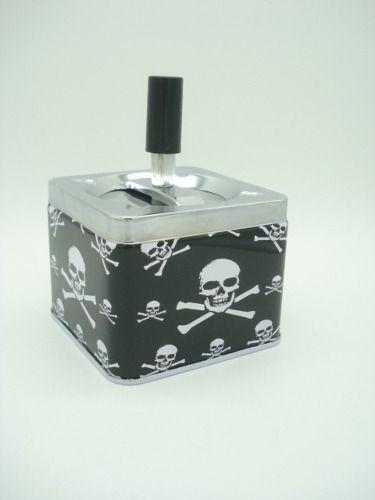 Cinzeiro Caveira Decoração Metal Cranio Esqueleto Dsc4851  - Presente Presente