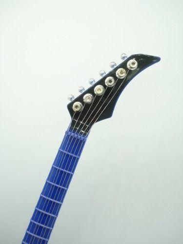 Guitarra Musical Enfeite Decoração Caixa Musical Azul  - Presente Presente