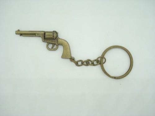Chaveiro Mini Revolver Militar Vintage Gold  - Presente Presente