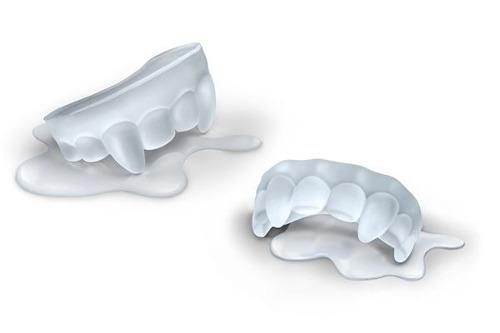 Forma De Gelo Dentes De Vampiro Em Silicone  - PRESENTEPRESENTE