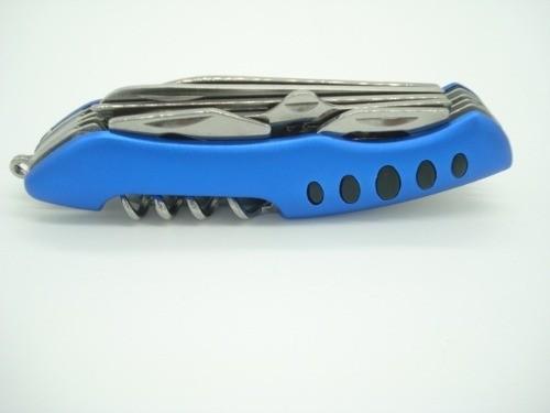 Canivete Faca Multiuso Azul 9 Funções  - Presente Presente