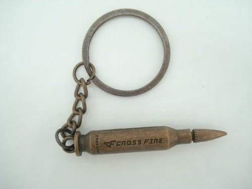 Chaveiro Munição Cross Fire Militar Vintage Cobre  - Presente Presente