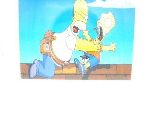 Placa Metal Os Simpsons Homer E Bart 30x20cm  - Presente Presente