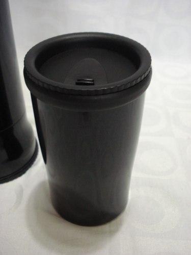 Garrafa Esportiva Aço Inox Térmica C/ Caneca 350ml Cup500  - Presente Presente