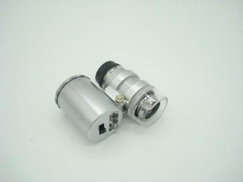Lupa Mini Microscópio 60x Luz Led Uv Mg9882  - Presente Presente