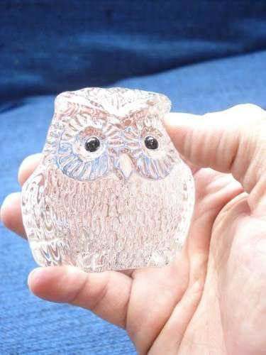 Enfeite Coruja Miniatura Vidro Coleção Decoração 7cm  - Presente Presente