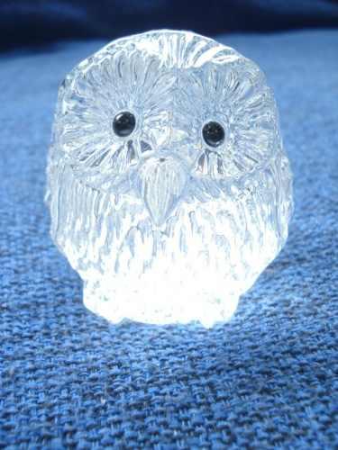 Enfeite Coruja Miniatura Vidro Coleção Decoração 7cm 038  - Presente Presente