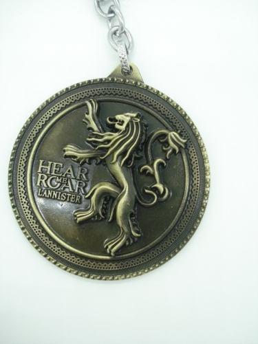 Chaveiro Game Of Thrones Brasão Lannister Leão Hear Me Roar  - Presente Presente