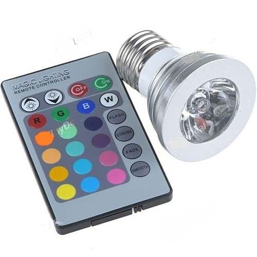 Lâmpada Led Colorida Controle Remoto 110 Lumen  - Presente Presente