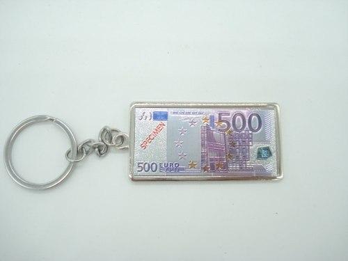 Chaveiro Metal Cédula Nota De 500 Euros  - Presente Presente