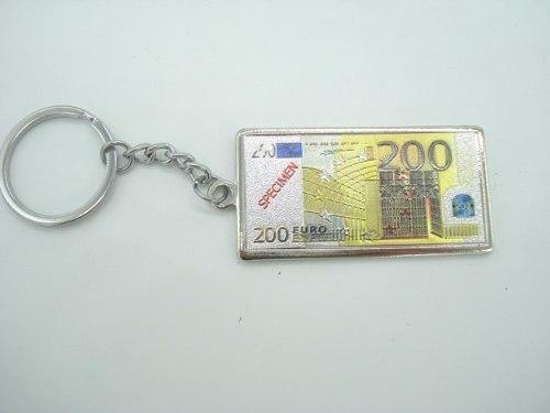 Chaveiro Metal Cédula Nota De 200 Euros  - Presente Presente