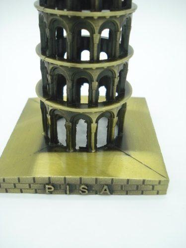 Enfeite Miniatura Torre De Pisa Toscana Italia Metal Luxo  - Presente Presente