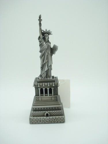 Miniatura Estatua Da Liberdade 16cm New York Metal Enfeite  - Presente Presente