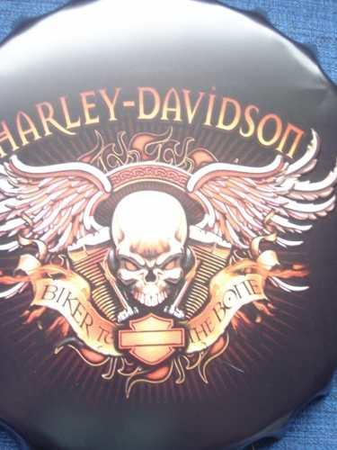 Placa Metal Harley Davidson Bike To The Bone Coleção  - Presente Presente