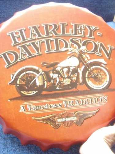 Placa Metal Harley Davidson Tradition Decoração Coleção  - Presente Presente