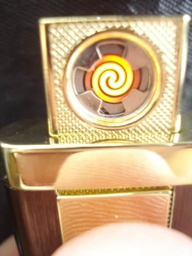 Isqueiro Luxo Recarregável Usb Elétrico Eletrônico Preto  - Presente Presente