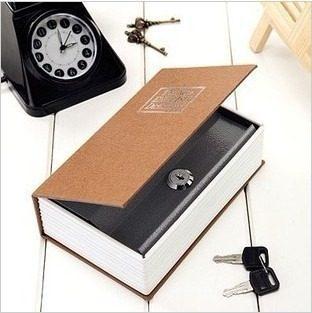 Cofre Em Forma Livro Dicionario Aço Joias Dinheiro Camuflado 17,5 X 10,5 X 3,5cm  - Presente Presente