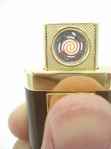 Isqueiro Luxo Recarregável Usb Elétrico Eletrônico Cobre  - Presente Presente