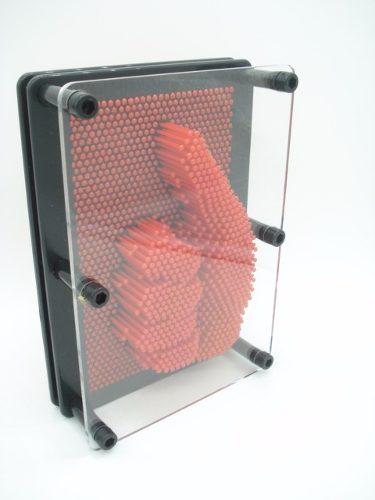 Captador De Imagens Pinart 3d Vermelho Escultura Pregos  - Presente Presente
