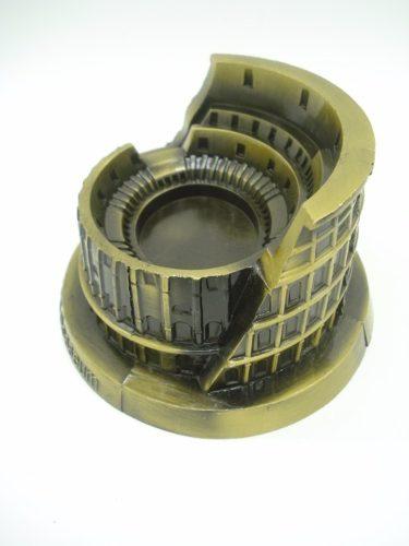 Miniatura Coliseu De Roma Metal Enfeite Luxo  - Presente Presente