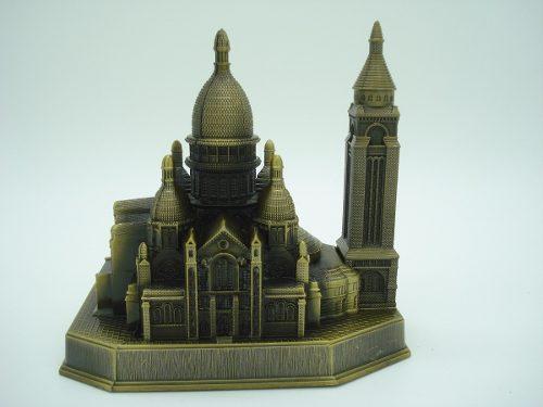 Miniatura Basilica Sagrado Coração Paris Metal Enfeite Luxo  - Presente Presente