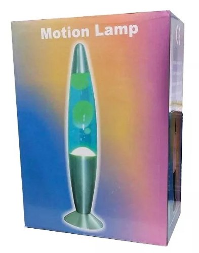 Luminária Abajur Lava Lamp Motion 40cm Verde Base Verde  - Presente Presente