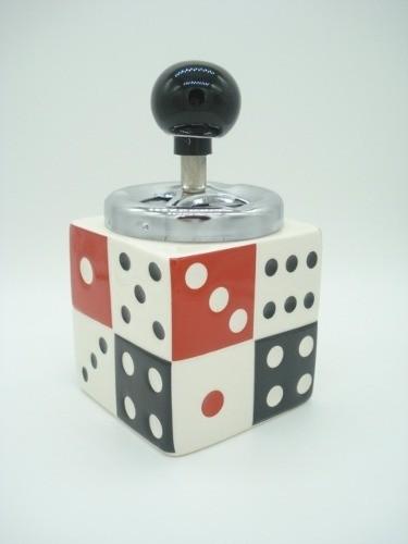 Cinzeiro Domino Giratorio 15cm Cerâmica  - Presente Presente