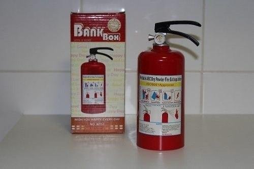 Cofre Extintor De Incêndio 65 Peças Cofrinho Moedas  - Presente Presente