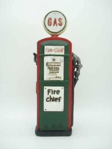 Cofre Resina Bomba De Gasolina Gas Station Vintage Retro  - Presente Presente