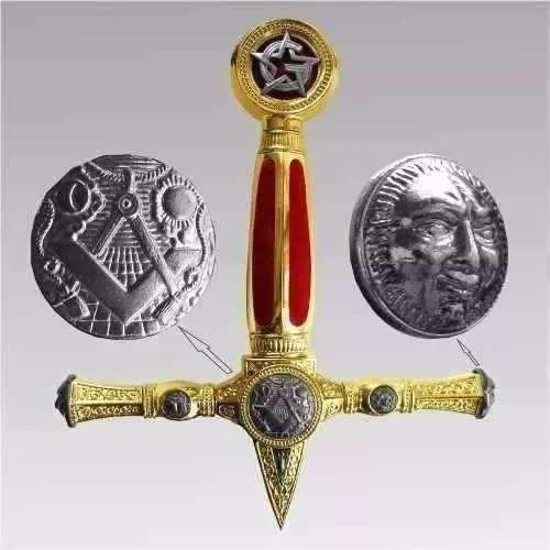 Espada Templária Maçônica Maçonaria Aço Inox C/ Suporte  - Presente Presente
