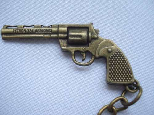 Chaveiro Mini Revolver Ventilado Gun Militar Vintage  - Presente Presente