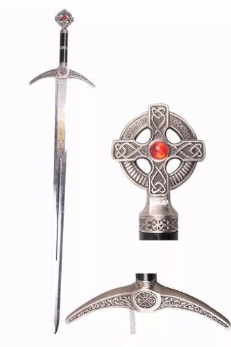 Espada Maçonica Templaria 120cm Com Suporte De Parede  - Presente Presente