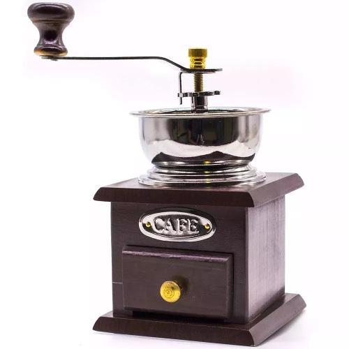 Moedor De Café Manual Madeira Com Gaveta Para Pó  - Presente Presente