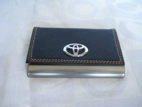 10 Peças Porta Cartão De Visitas Toyota Inox  - Presente Presente