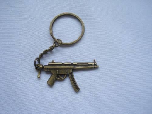Chaveiro Mini Submetralhadora Gun Militar Vintage  - Presente Presente