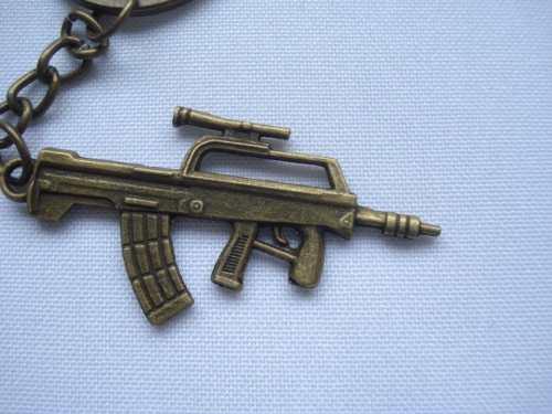 Chaveiro Mini Machine Gun Militar Vintage  - Presente Presente