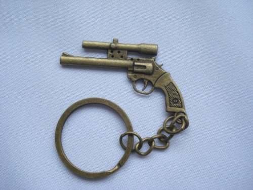 Chaveiro Mini Revolver Com Mira Gun Militar Vintage  - Presente Presente