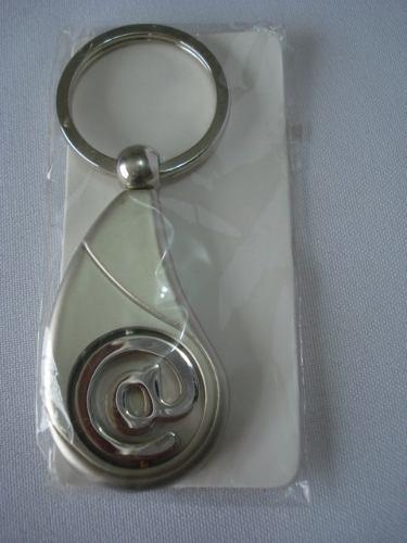 Chaveiro Aço Inox Arroba Apex Mod 01  - Presente Presente