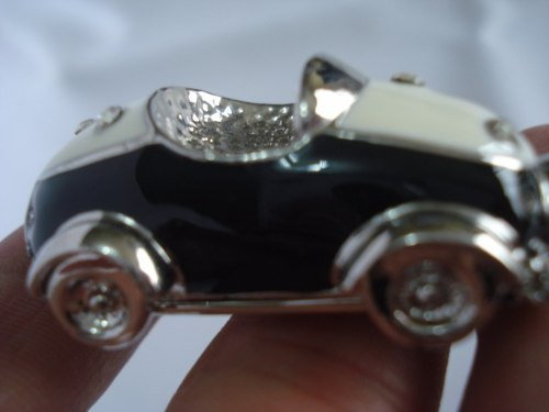 Chaveiro Carrinho Preto Carro Vintage Com Brilhos  - Presente Presente