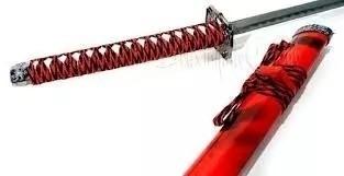 Espada Katana Vermelha Dragão 78cm Promoção  - Presente Presente