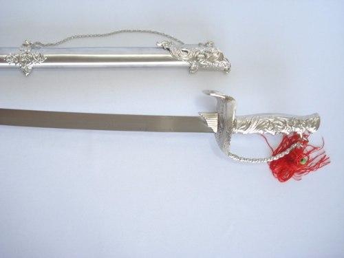 Espada Medieval Dragão 86cm Prateada  - Presente Presente