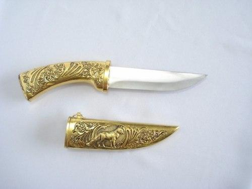 Punhal Decorativo Fox Hunter 30cm Com Suporte Mesa  - Presente Presente