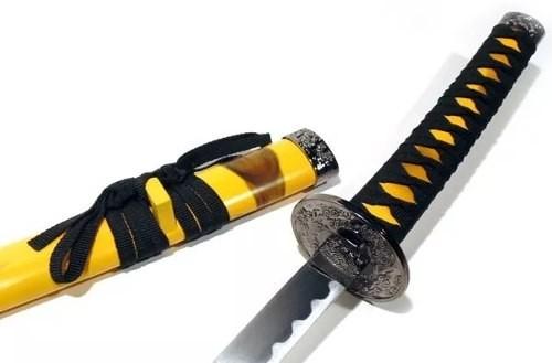 Espada Katana Amarela 78cm Mod Sa022or  - Presente Presente