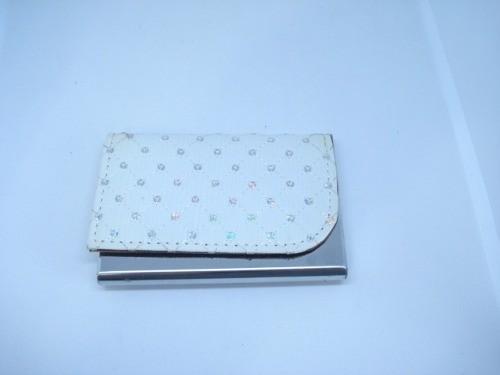 Porta Cartão Credito Branco C Costura Mini Carteira  - Presente Presente