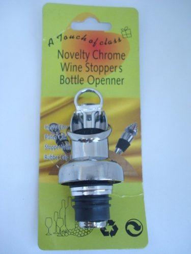 Dosador Inox Bico Para Vinho E Bebidas Com Tampa  - Presente Presente
