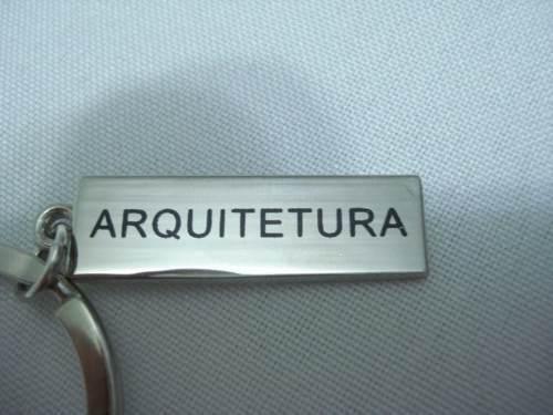 Chaveiro Arquitetura Profissão Placa De Metal  - Presente Presente