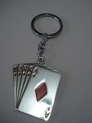 Chaveiro Poker Straigth Flush Ouros Baralho  - Presente Presente